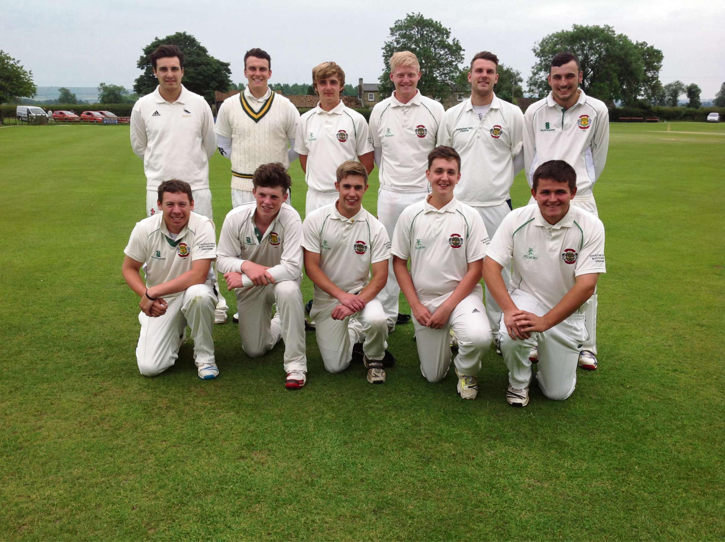 TROPHY HOLDERS: Flixton, finalists again in the Andy Hire Harburn Cup