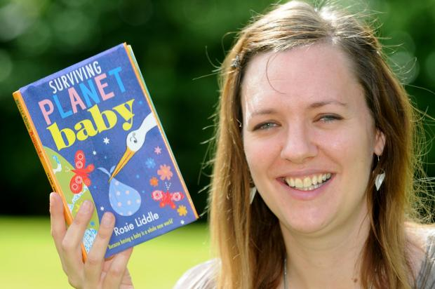Malton School teacher, Rosie Liddle with her new novel  Surviving Planet Baby