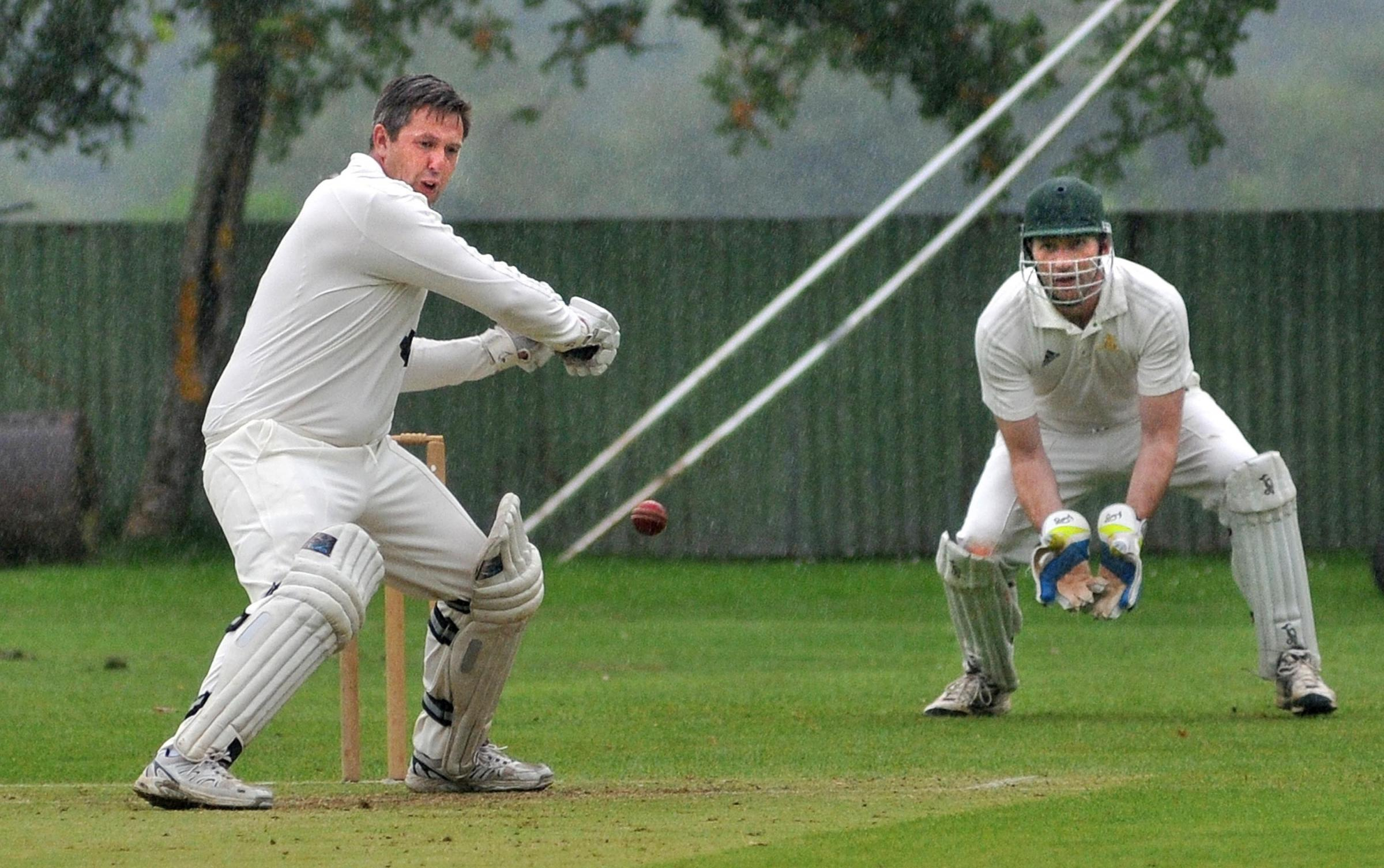 Duncombe Park's Brian Leckenby on his way to 90 against Po