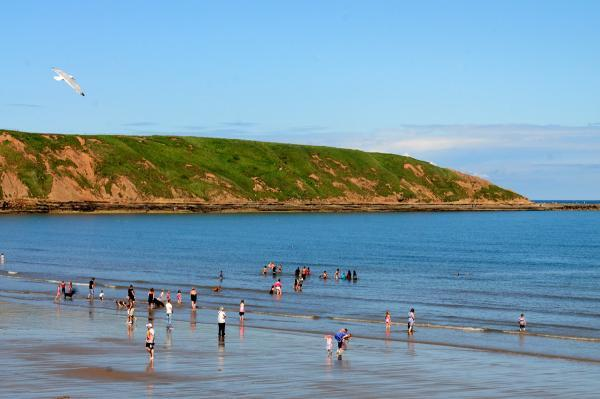 Fun in the sun at Filey