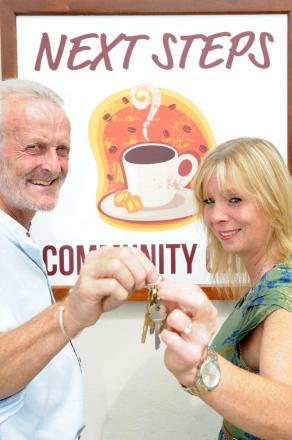 Retiring manager Mike Dixon of Next Steps , Norton  hands over to new manager , Leisa Taylor