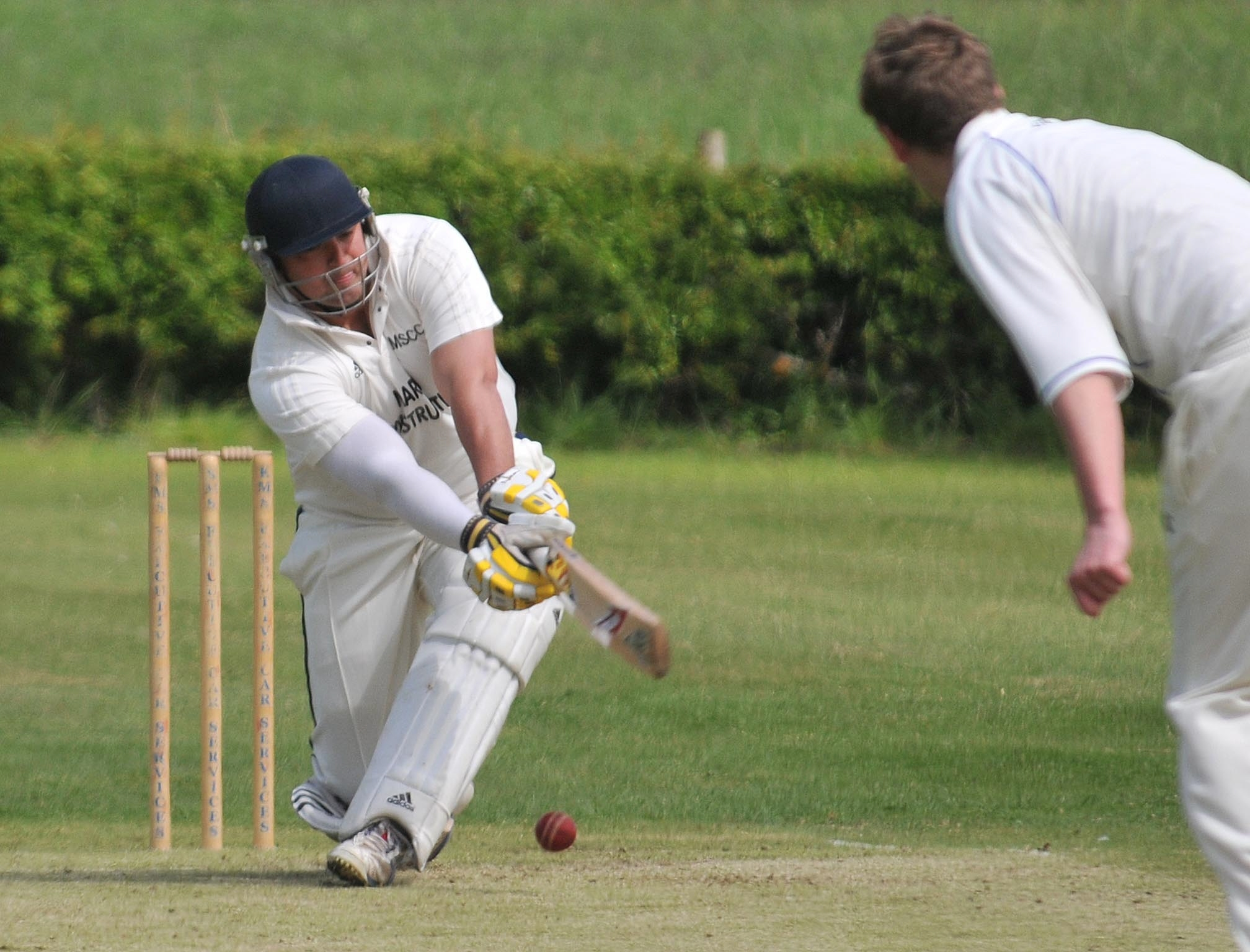 Dave Gardner, who made a crucial 44 in Kirkby-moor-side's victory over Settring-ton - although the result is under review