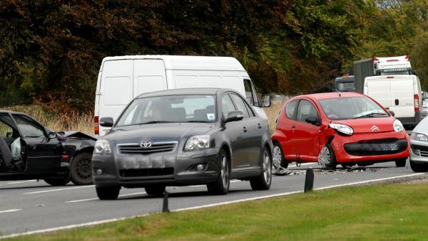 One of the many crashes on the A64