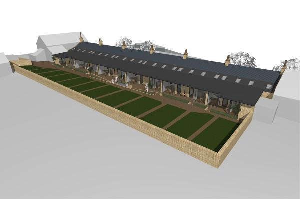 An artist's impression of the refurbished almshouses in Thornton-le-Dale