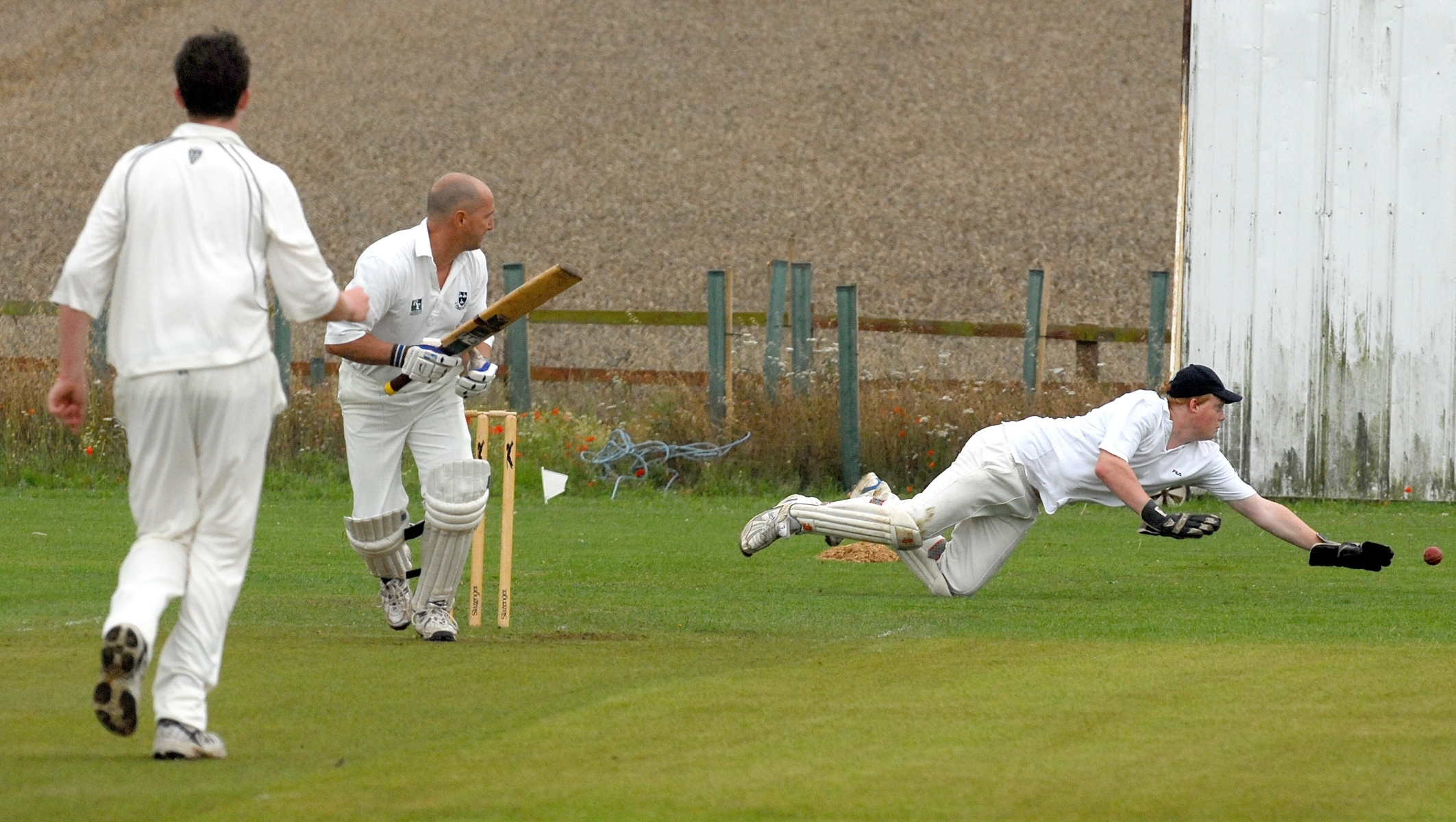 Ali Fothergill, seen here wicketkeeping for Westow, took his first 'five-for' at the weekend in the York Vale League game against Hirst Courtney