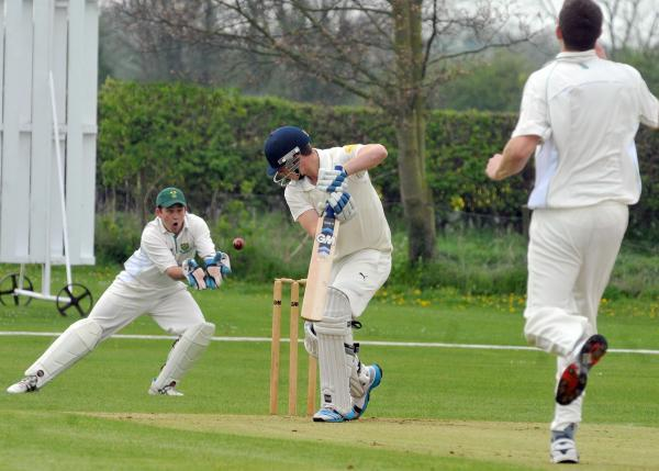 Batsman Paul Oldfield, who made a key contribution as Sheriff Hutton Bridge won their Pilmoor Evening League title decider