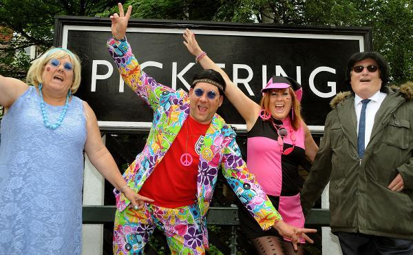 From left, Pauline Errington, Paul Pitchford, Caroline Brookes and Roy Errington promote the Pickering Sixties Festival.