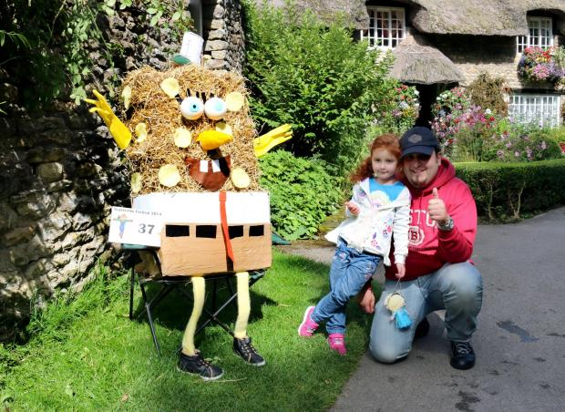 SpongeBob SquarePants scarecrow in Thornton-le-Dale. Picture: Katherine Batchelor