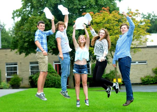 Pupils at Lady Lumley's School celebrate their GCSE results