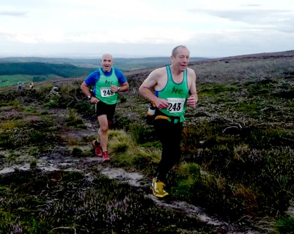 : Richard Todd, left, and Peter Winter at the Bransdale Fell Race
