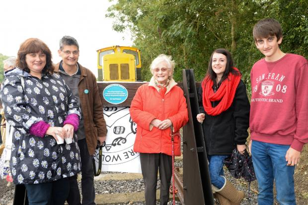 At the Yorkshire Wolds Railway Members' Preview Day  A plaque was unveiled by Evelyn Robson to acknowledge the contribution of the late Geoff Robson which enabled the early project to proceed