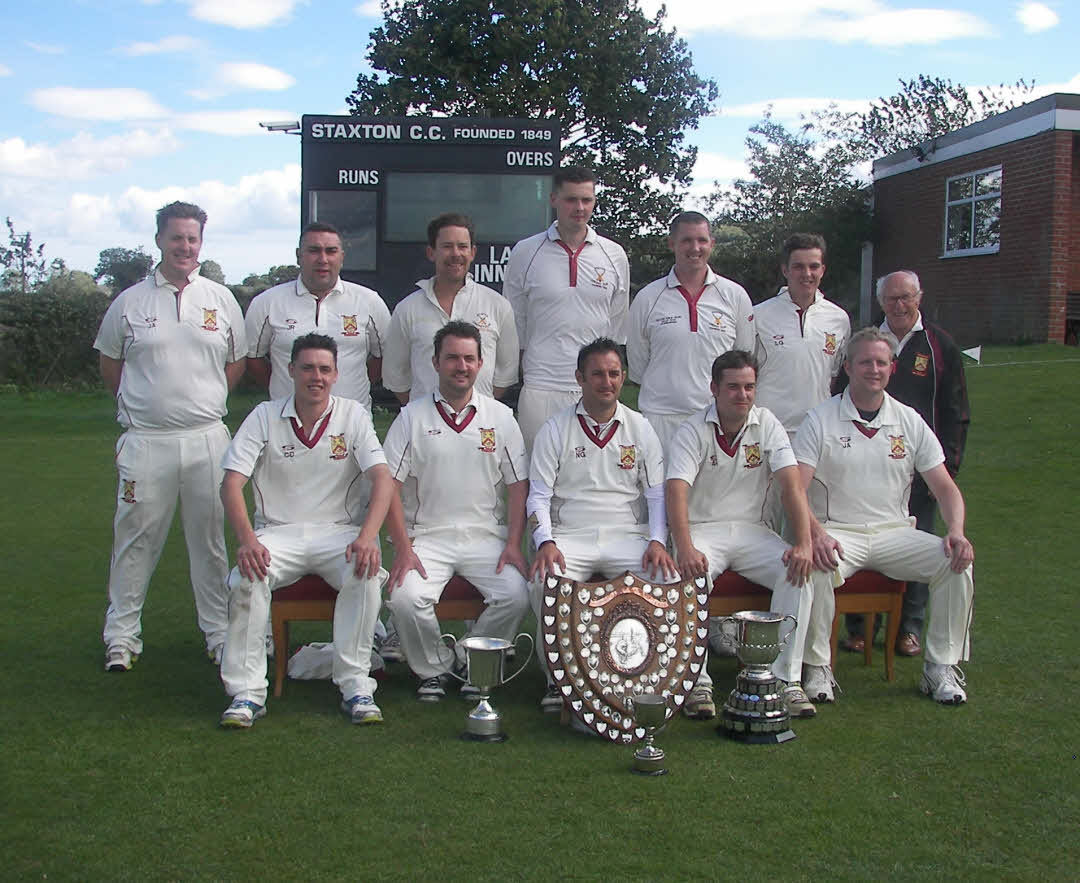 Staxton celebrate winning the Readers Scarborough Beckett League premier division