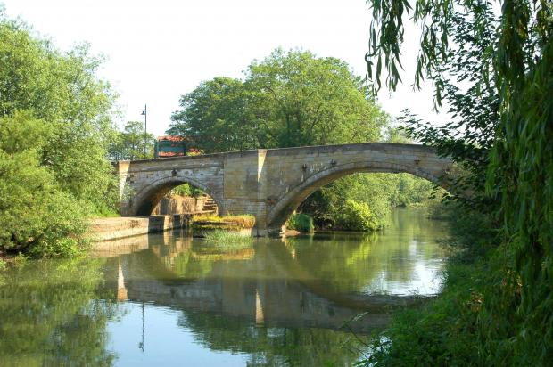 Gazette & Herald: The historic bridge at Stamford Bridge is the start of the ridePicture: Brian Beadle
