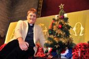 Reverend Rachel Hirst gears up for the Christmas tree festival