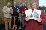 Members of Kirkbymoorside History Group, from left, Chris Boddy, Robin Butler, Ed Denney and Ann Wilson with two of the books