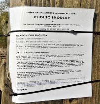 The appeal notice in Kirkdale Road