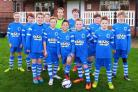 Old Malton St Mary's Under-12s in their new kit, sponsored by BMC Garage, Malton