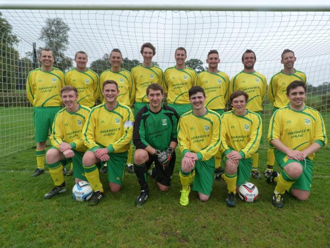 Thornton-le-Dale, who moved up to third in newitts.com Beckett League division one after a 5-0 home win against second placed Bagby & Balk, are pictured, back row from left, Nick Wilkinson, Craig Barnes, Matthew Wilkinson, Harry Kenworthy, player/manager