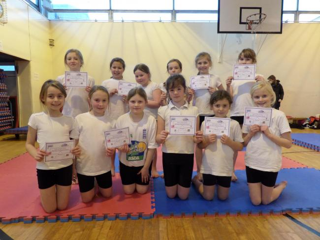 Youngsters from Pickering Community Junior School, who impressed in the gymnastics competition at Lady Lumley's School