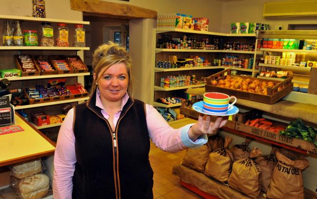 Samantha Gill, new owner at Terrington Village Stores who is still serving coffee as well as groceries.