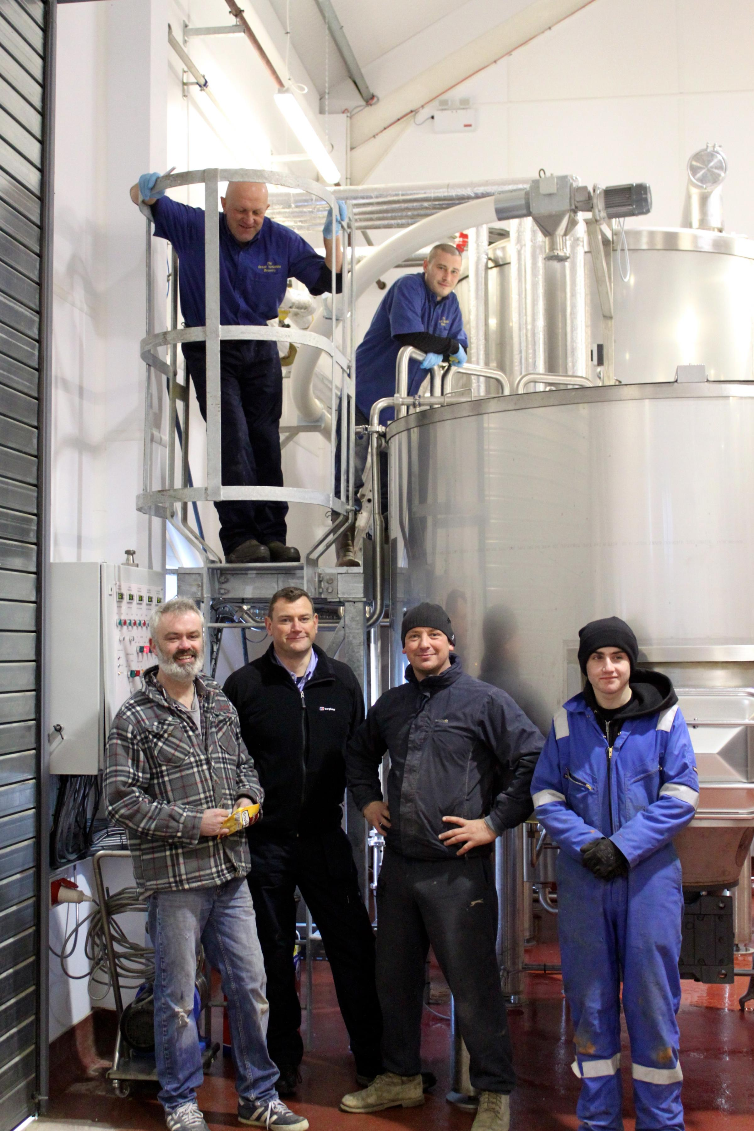 The team at Great Yorkshire Brewery