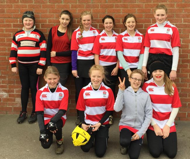Malton & Norton girls under-13s, who played their first-ever match on the road, at Selby