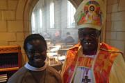CALLING: Sister Helena with the Archbishop at the Whitby ceremony