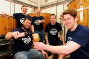 The boys at Brass Castle Brewery prepare for the Beertown festival, which will take place at the Milton Rooms, Malton, with James Broad, front left, Matt Hall, Ian Goodall, Phil Saltonstall and Chris Waplington, front right.