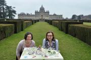 Catriona McLees, head of promotion and tourism at the North York Moors National Park, left, with Rachel Underwood, marketing manager of Castle Howard Estate Limited, which is supporting the scheme, with a cake map created by Helmsley's Rhian Crusher