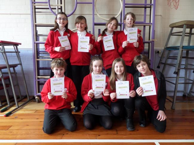 Pickering Junior School's victorious Year 5/6 netball squad