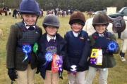 The winners of class two, from left, Lily Baum, Harriet de Boulay, Ruby Thompson and Alex Cordingley