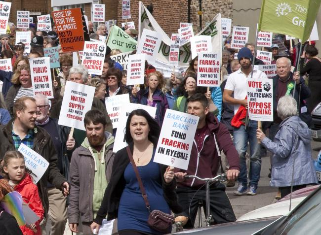 Anti-fracking rally in Malton earlier this year