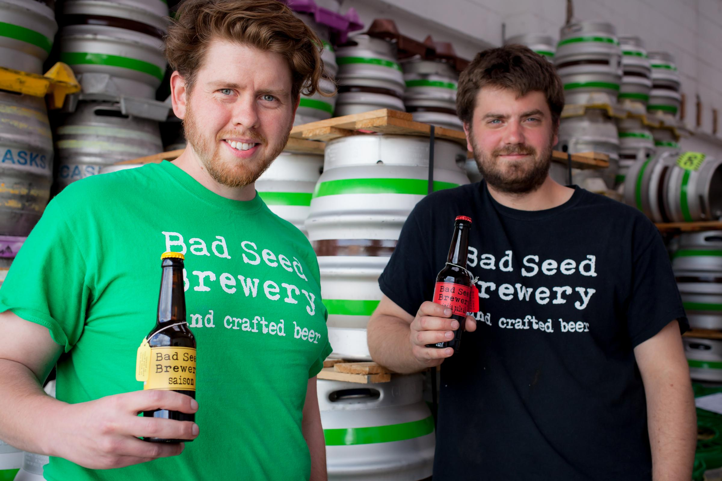 Chris Waplington and James Broad, of Bad Seed Brewery, which is trebling its capacity