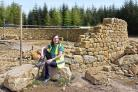 Petra Young at the site of the stone wall maze at Dalby Forest. Picture: Nigel Holland