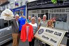 POP-UP: Members of Malton and Norton Rotary Club get ready to open their charity shop in Malton. Picture: Nigel Holland