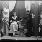 Gazette & Herald: TWELFTH NIGHT 1954: A junior cast: Marwood, Smailes, Searle, Vause, Davies, Theasby, House, Fox, Buckle, Rolls mi., Walker, Tinsley, Farndale, P Taylor, P Smailes, G Taylor, D Sheffield, Smith