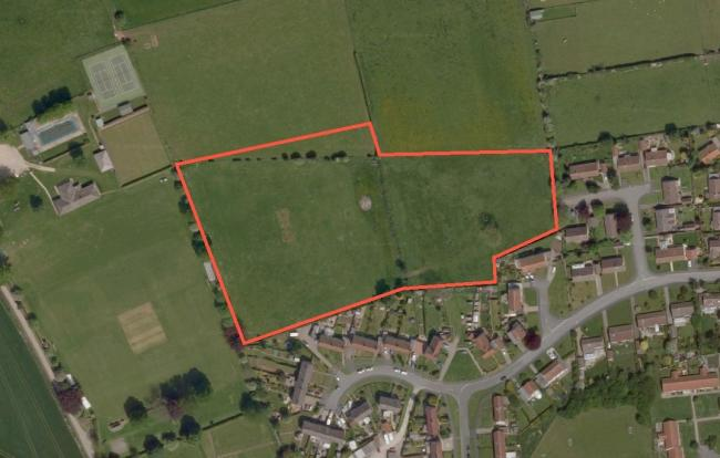 The approximate outline of the site of the proposed development of apartments and homes in north Helmsley. Picture: Google Maps