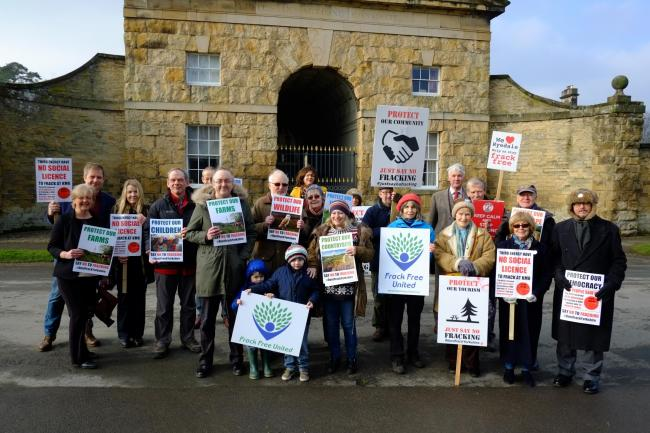 Frack Free United's official launch at Hovingham. Picture: David Mackie.