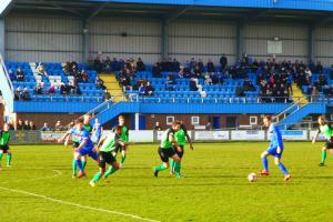 Whitby Town in action last month against Barwell at the Turnbull Ground.
