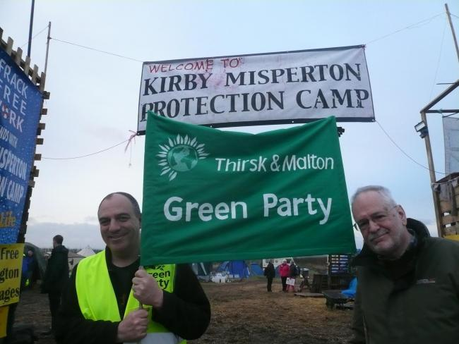 On the left is Andrew Cooper, the walk's organiser and energy spokesman for the Green Party. On the right is Martin Brampton, the party's candidate for Thirsk and Malton constituency for the the next General Election.