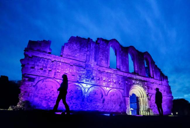 Rievaulx Abbey lit up during a previous illuminations event Picture: Danny Lawson/PA Wire