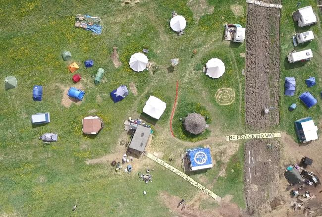 The Protection Camp as seen from the air