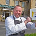 Gazette & Herald: Head chef Andrew Jones, of The Worsley Arms, in Hovingham, with his AA Rosette Award                            Picture: Nigel Holland