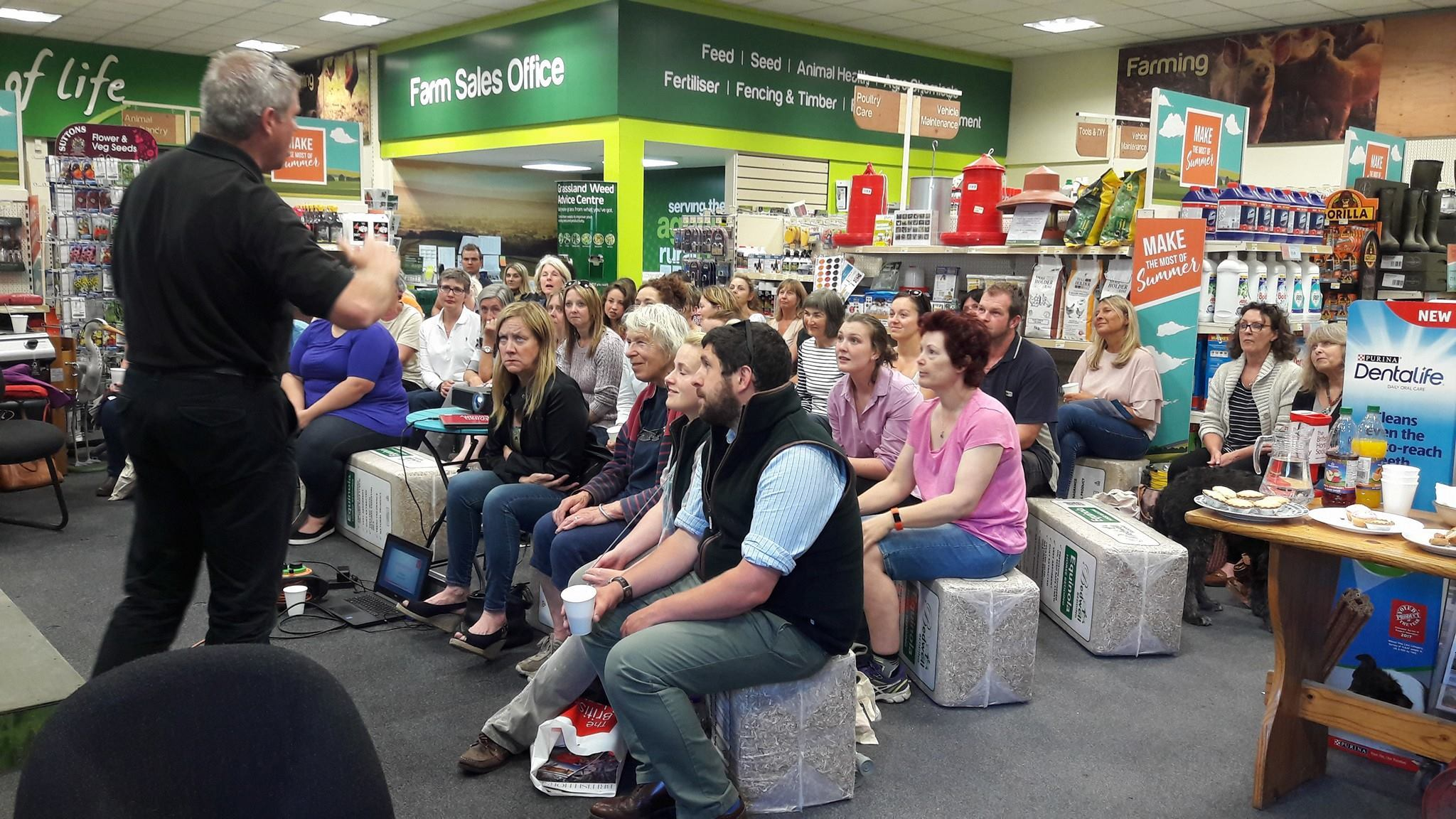 Some of the 40 people who attended a road safety event at Mole Country Stores, in Ripley    Picture: North Yorkshire Police