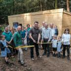 Gazette & Herald: The opening of the new Forestry Commission wildlife hide in Cropton Forest, to be managed by Hidden Horizons. Ribbon cut by Robert Fuller. Photography competition winner was Iain Leadley. July 2017. Pictures: Tony Bartholomew/Forestry Commission
