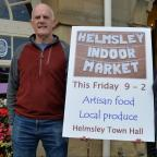 Gazette & Herald: Steve Skelton and Erica Rose promote the new Artisan Food Market which will be held in the Helmsley Town Hall  Picture: Anna Gowthorpe