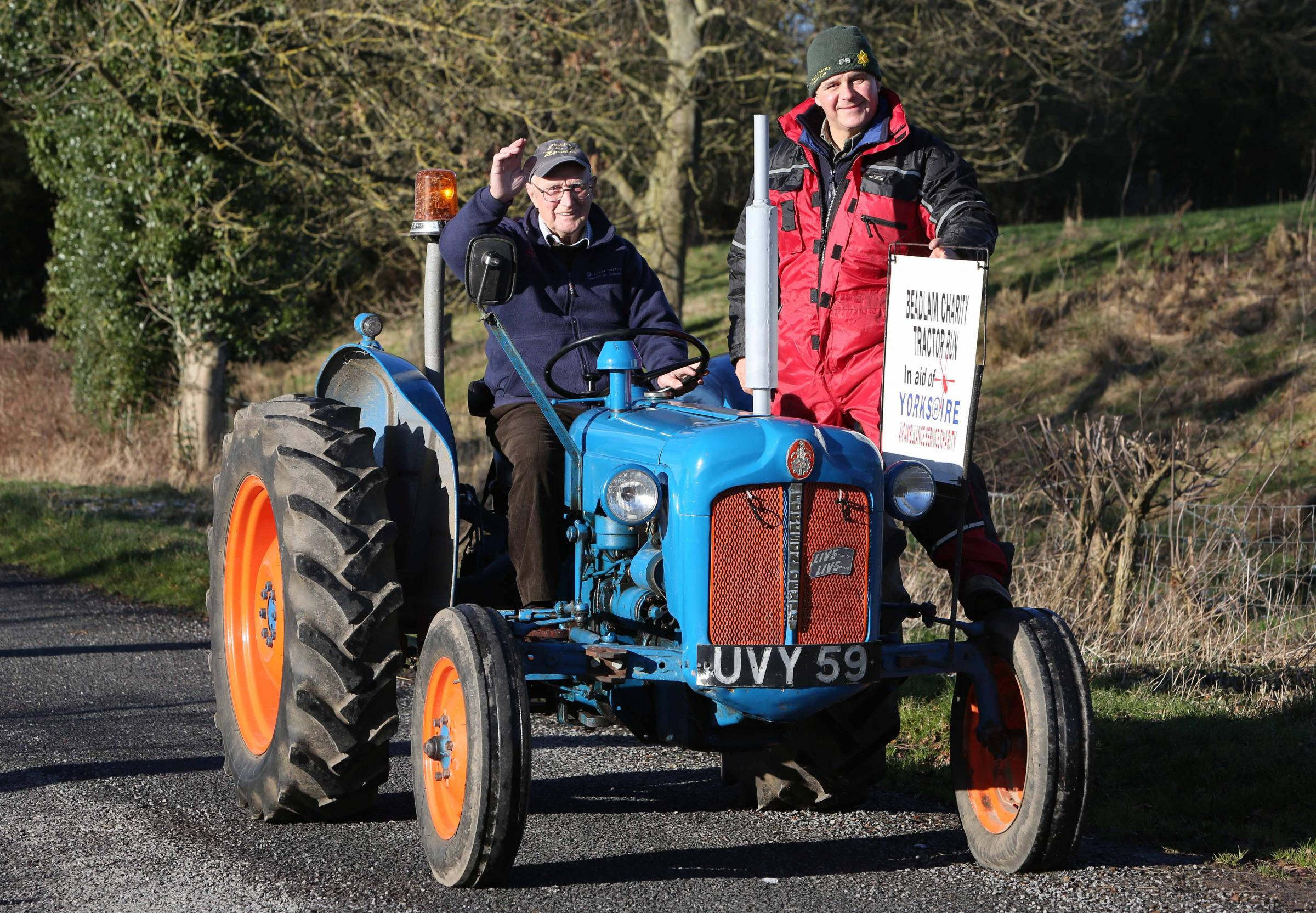 Bernard Simpson and his son Malcolm who organise the Beadlam Tractor Run, which has now raised more than £100,000 for Yorkshire Air Ambulance   Picture: Richard Doughty