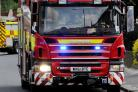 Gazebo and baler fires tackled by fire services