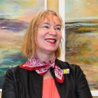 Gazette & Herald: Artist Lesley Birch who is exhibiting a series of paintingâs titled âEthereal Momentsâ in the Scampston Walled Garden restaurant. Picture David Harrison..