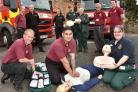 Firefighters, ambulance crews, paramedics and first responders join forces at Malton fire station to get ready for the Restart A Heart campaign day, which takes place on MondayPicture: David Harrison